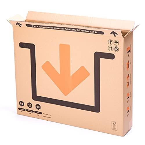 TeleCajas   (10x) Cajas para Cuadros, Espejos, Televisor   81x13x69 cms   Solapa Doble y Canal Doble Resistente