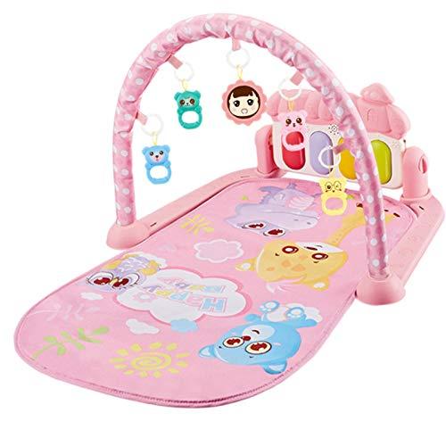 Dreameryoly Manta de Juego para bebé recién Nacido Manta de Juego para BebéManta de Juego Musical Estante de Fitness con Pedal De Música Alfombra de Aprendizaje 76X56X43cm pretty