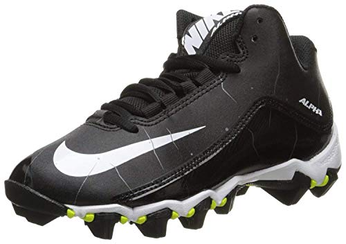 NIKE Mens Alpha Shark 2 Three-Quarter Football Cleat Black/Anthracite/White Size 9.5 M US
