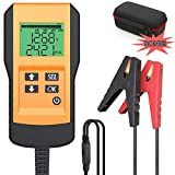 LEICESTERCN Battery Tester for Automotive Digital 12V Car Battery Load Test and Analyzer for Flood, Gel, AGM, Deep Cycle Battery