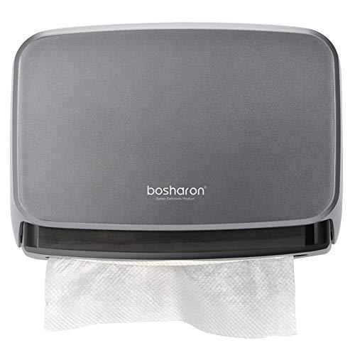 Decdeal Bosharon Dispensador de Toallas de Papel Montado en la Pared de Baño Dispensador de Papel Higiénico para Hogar/Cocina/Baño