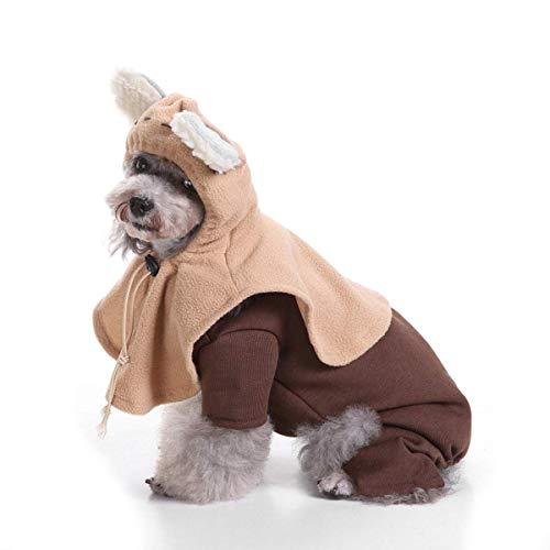 QHYY Haustier Hund Katze Kostüm Lustige Hunde-Bekleidung Kleintiere Frühling-Sommer-Kleidung Mode-Kleid Verkleidung Partei Mantel-Kleidung,D,M
