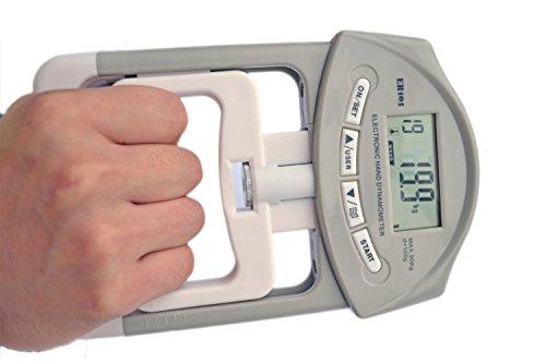 Deyard EH101 Elektronische Handkraftmesser 90 kg / 200 lbs Kapazitätsbereich Handgriff des Stärkungsmittel mit 19 Sets von Einzeldatensätze