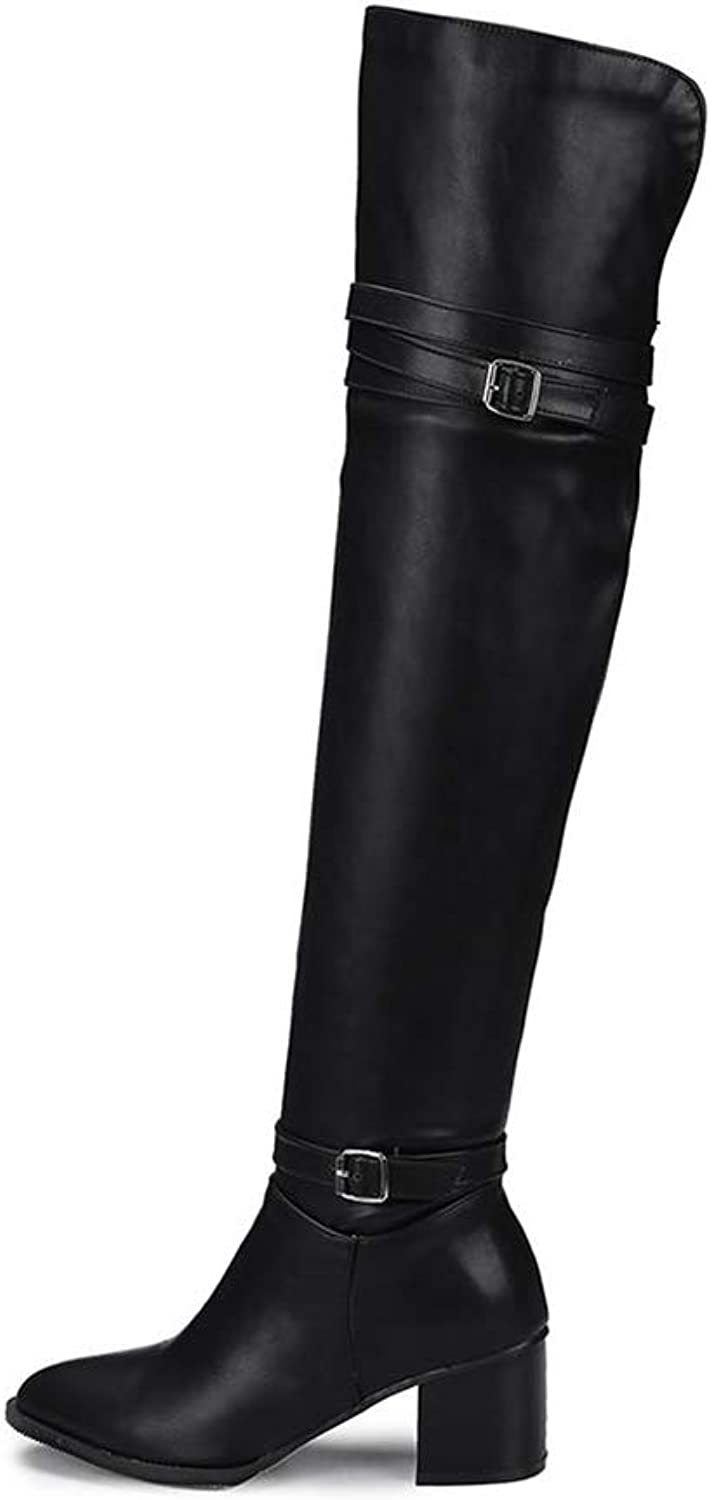 T-JULY Fashion Autumn Women's Over The Knee Boots Thigh High Heels Knight shoes