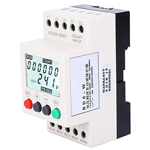 Phase Failure Protection Relay, Voltage Monitoring Relay, 3 Phase Voltage Monitor Relay, Fault Record for Fan Pump