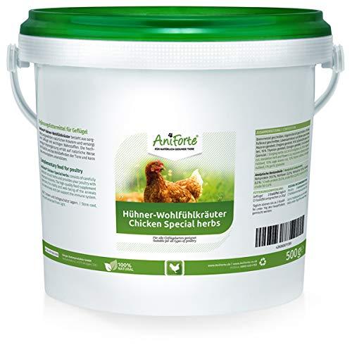 AniForte Hühner-Wohlfühlkräuter 2,5 Liter - Ausgewählte Natur Kräuter für Hühner, Löwenzahn, Brennnessel, Beifuß für Immunsystem, Vitalität, für Wohlbefinden, Abwehrkraft & Verdauung