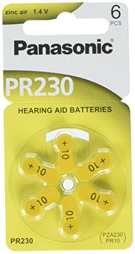 60 Panasonic Hearing Aid Batteries Size: 10 + Keychain