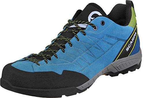 Scarpa M Epic GTX Blau, Herren Gore-Tex Hiking- und Approach-Schuh, Größe EU 45 - Farbe Vivid Blue - Yellow