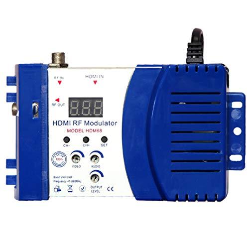 Candybarbar Modulador HDM68 RF Digital Modulador HDMI Convertidor AV a RF VHF UHF PAL / NTSC Modulador portátil estándar