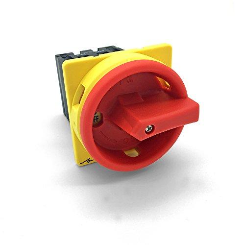 Hauptschalter 16A Fronteinbau Drehschalter 4 polig IP65 4P16A-E Trennschalter 16 amper Trenn Dreh Haupt Maschinen Schalter 4pol 230 - 440 V front Einbau ARLI