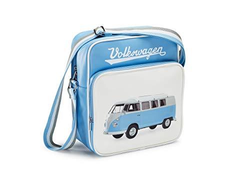 Volkswagen 1H0087319 Tasche T1 Schultertasche Retro Bulli, hellblau/weiß