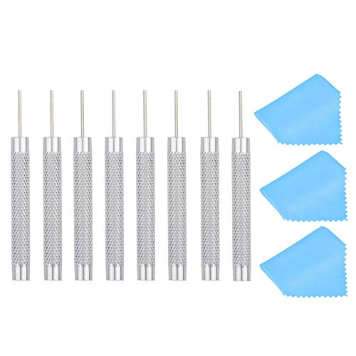 8 Pcs SIM Card Tray Eject Pin Removal Tool Ejector Pin Needle with 3 Cleaning Cloth for iPhone iPad Samsung Galaxy Smartphone Android Phones