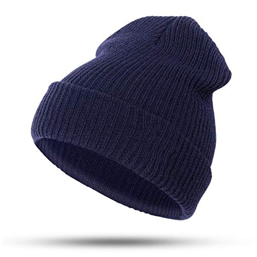 HAXGL dames hoed vrouwen hoed muts katoen cartoon voor jongens meisjes warme muts hoed kwaliteit donkerblauw