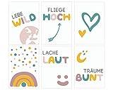 Fabelhafte Dinge Bilder-Set A5 Poster Kinderzimmer