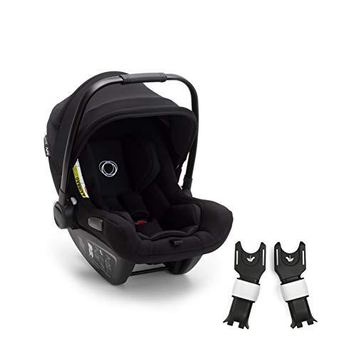 Bugaboo Turtle Air by Nuna + Cameleon 3 Adapter – Autokindersitz für Neugeborene – Stabiler, leichter Kindersitz mit Tragebügel und schwarzem Sonnendach