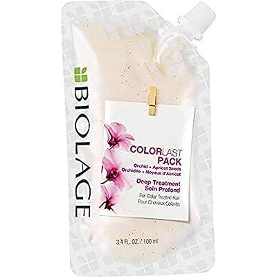 BIOLAGE ColorLast Deep Treatment Pack | Mutli-Use Hair Mask | Vegan & Paraben-Free | For Color Treated Hair | 3.4 Fl. Oz.