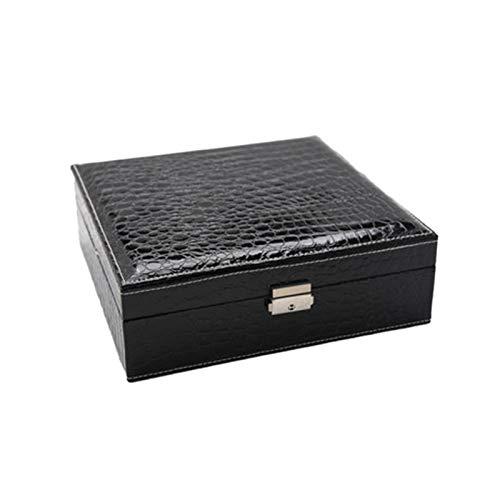 Swadal Caja de almacenamiento de franela de doble capa, diseño de joyas, pendientes, collares, almacenamiento D