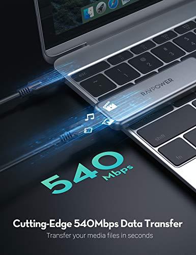 RAVPower - Disco Duro SSD Externo (512 GB, USB C, Unidad Flash de ...