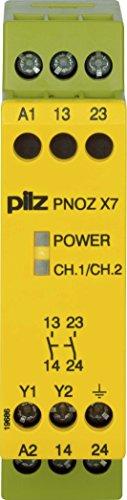 Pilz Not-Aus-Schaltgerät PNOZ X7#774054 115VAC 2n/o PNOZ X Gerät zur Überwachung von sicherheitsgerichteten Stromkreisen 4046548012354