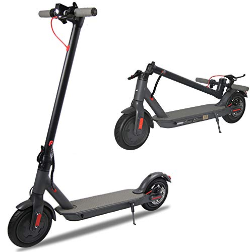 """Electric Scooter for Adults, 8.5"""" Air Tires 350W Motor Speed 15.8 MPH, Up to 16 Miles, Long Range Battery, Portable Folding Electric Scooters for Adults(Black)"""