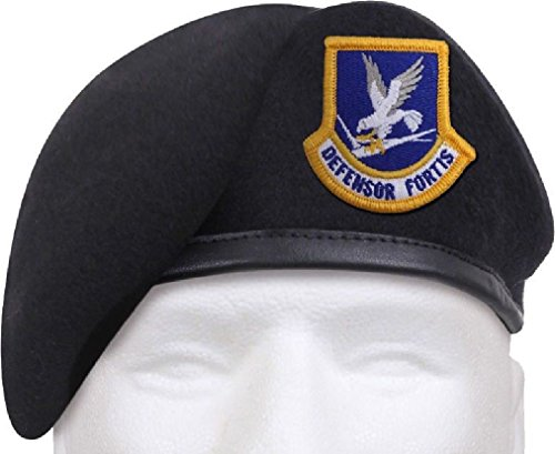 Midnight Navy Blue Defensor Fortis Beret US Air Force Flash Inspection Ready