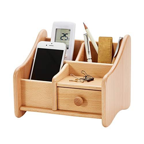 CROWN Schreibtisch-Organizer aus Holz mit Schubladen, erweiterbarer E-Mail-Sortierer, Desktop-Organizer für die Schreibtisch-Waschtischplatte mit Bleistiftfernbedienung im Home Office