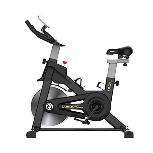CMJM Bicicleta de ejercicio interior para gimnasio en casa, monitor de ritmo cardíaco, resistencia ajustable, manillar, asiento, máquinas de ejercicio