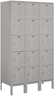Salsbury Industries 65355GY-U Five Tier Box Style 36-Inch Wide 5-Feet High 15-Inch Deep Unassembled Standard Metal Locker, Gray