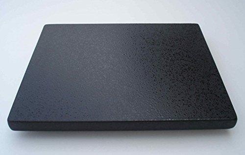Megrill Grillstein, Pizzastein aus glasiertem Cordierit 400x400x17mm