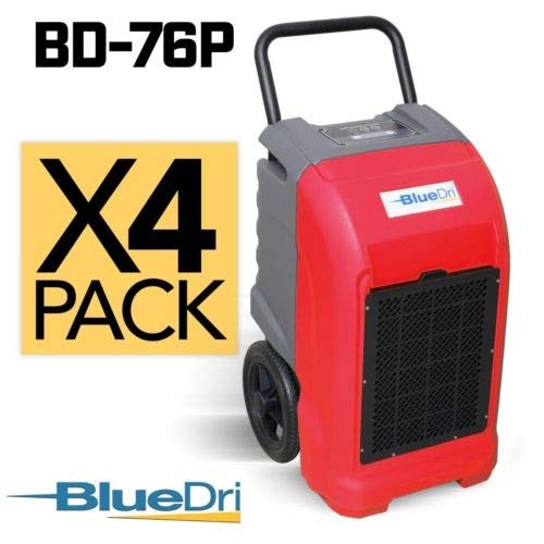 Cheapest Price! BlueDri BD-76 Water Damage Equipment Industrial Commercial Grade Large Dehumidifier ...