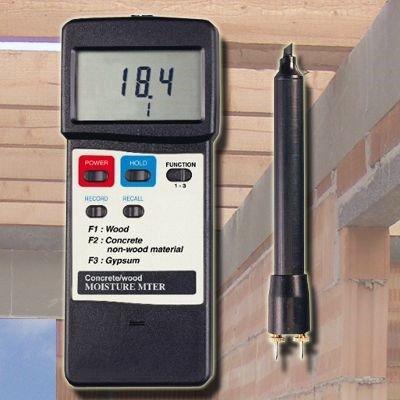 Baufeuchtemessgerät Feuchtemesser Holz Beton Estrich Ziegel Gips Putz MS-7002 F10