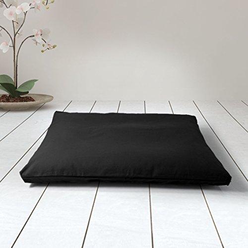Estera de meditación/Zabutón/Relleno Fibra de algodón 100{34bb1f36441121fb17b2e63c9c409c3464e23727de3e71561d3113df5e21b83f} Reciclado/Base para Cojín de meditación/colchoneta meditación y Yoga / 75x65 cm (Negro Zen)