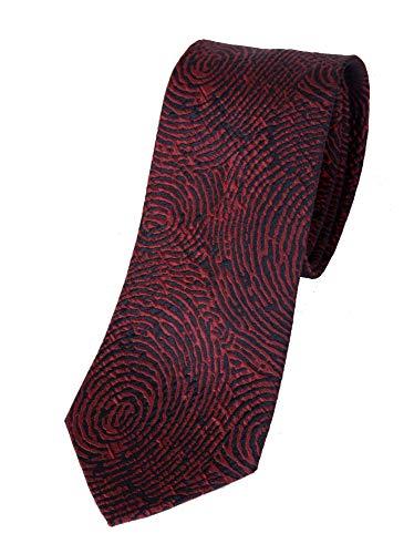 Armani Emporio Corbata de hombre 100% seda (Red)