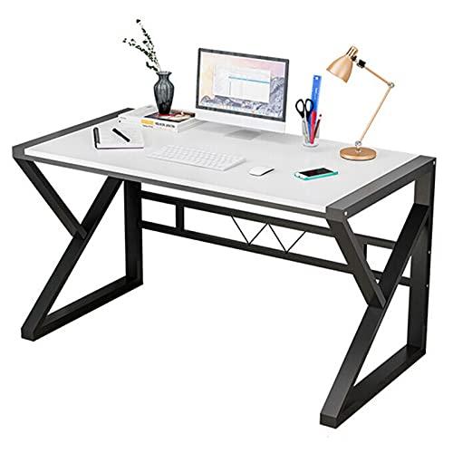 Escritorio de la computadora de escritura Escritorio de oficina moderno y resistente Mesa de estudio portátil PC portátil para estación de trabajo de oficina en casa Escritorio de trabajo para juegos