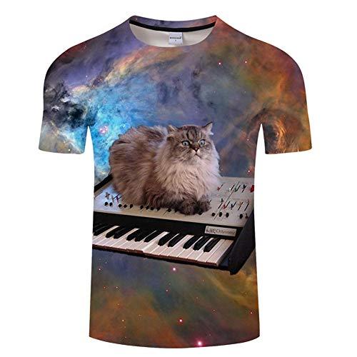 Ywfzzxs T-shirt 3D Top Fashion T-shirts T-shirts A mouwen unisex nieuw kostuum HD Anime Printing Toetsenbord