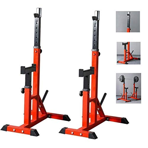 LAOHETLH Home Indoor Adjustable Squat Rack Multifunctional Weight Immersion Men's Free Weightlifting Bed Standing Barbell Rack Dumbbell Rack Gym For Fitness And Strength Training