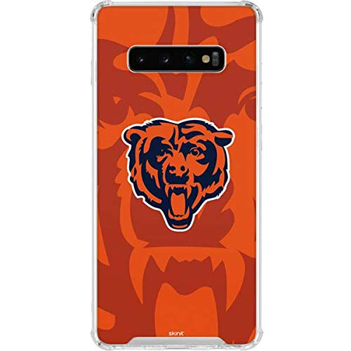Skinit Clear Phone Case for Galaxy S10 Plus - Officially Licensed NFL Chicago Bears Double Vision Design