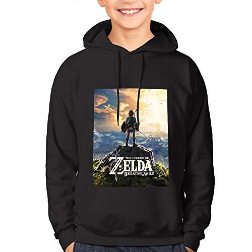 Eyliy Zelda Suéter con capucha de algodón para adolescentes con estampado divertido 3D para niños, niñas, adolescentes y niños