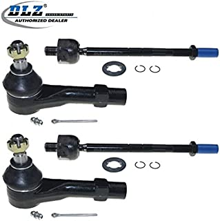 DLZ 4 Pcs Front Suspension Kit-Inner Outer Tie Rod End Compatible with 1998 1999 2000 2001 Ford Explorer Mercury Mountaineer 1998-2011 Ford Ranger 1998-2004 Mazda B2300 B2500 B3000 B4000 EV317 ES3461