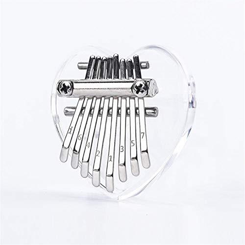 Kalimba, Daumenklavier Tragbare 8 Tasten Mini Kalimba Daumenklavier Kristall Transparent Musikinstrument Klavier Werkzeuge for Anfänger (Color : Crystal)
