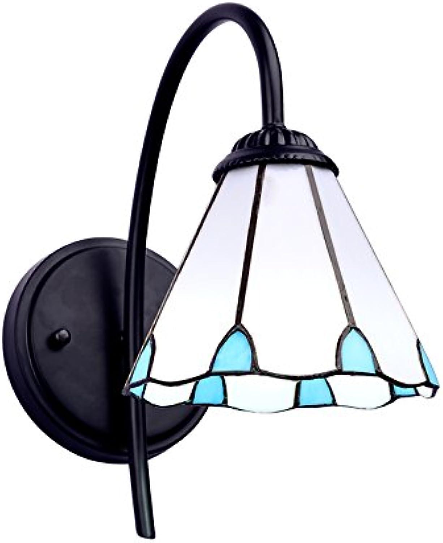 LK-D-BI-DENG Wandleuchte Mediterraner Stil Nachtlicht American Style Einzelkopfstütze Wohnzimmer Schlafzimmer Wandleuchte Spiegelleuchte (17  25) cm