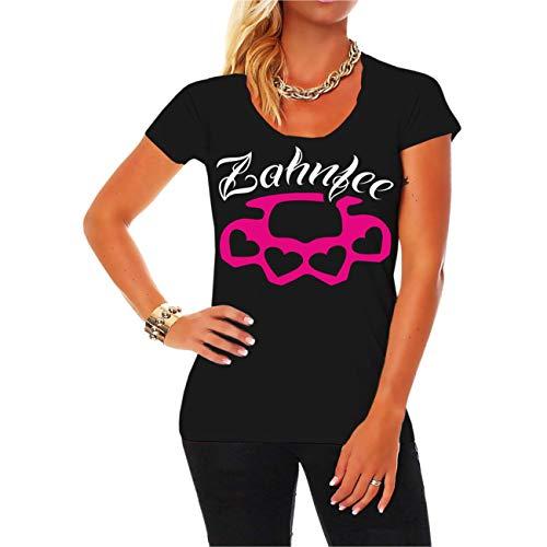 Spaß kostet Frauen und Girls Tshirt Zahnfee PINK Schlagring Größe XS - 5XL