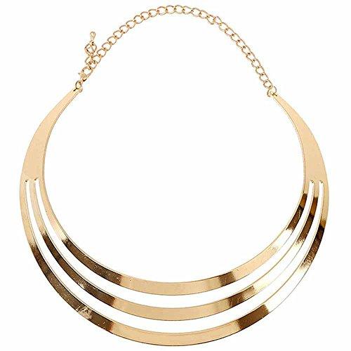 Unbekannt Choker Halskette Kette Frauen Metall Statement Modeschmuck Silber Gold (Gold) -