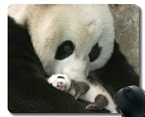 Yanteng Gaming Mouse Pad con borde cosido, juguetes Bebé Animal Animal Lindo Panda gigante Amor, Alfombrilla para ratón, Base de goma antideslizante, Alfombrilla para computadora portátil, Computadora