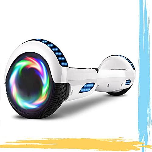 HST 6.5'' Hoverboard Patinetes de Acrobacias Patinete Eléctrico Bluetooth Monopatín Scooter Autobalanceado, Ruedas de Skate con luz LED, Motor Bluetooth de 700W…