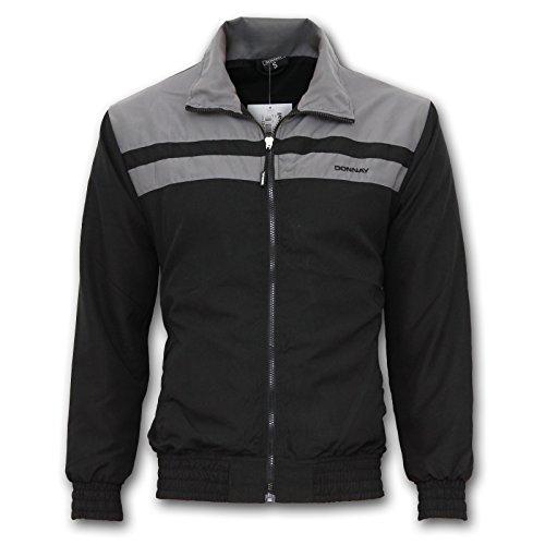 Donnay Trainingsanzug Hose Jacke Jogging Fitness Sportanzug S M L XL XXL 2XL (Schwarz, L)