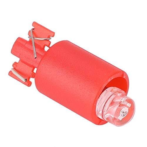 Socobeta Fuerte Resistencia al Desgaste Antimanchas Integración Lámpara de luz LED Tablero ignífugo de 10 Piezas para Juegos(Red)
