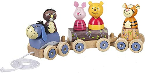 OTTO Train en Bois a Tirer Winnie The Pooh Disney Baby - Jouet a Tirer Bebe - Premier Age