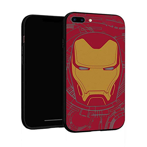 Funda para iPhone 7 Plus Funda 8 Plus, Funda básica de plástico para iPhone 7Plus / 8Plus (Iron Man-3)