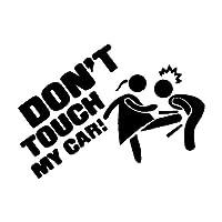 YDDQ®カーステッカー 面白い漫画の車のステッカー。 私の車に触れないでください。 車やオートバイのアクセサリー。 パーソナライズされたPVCデカール、12cm X 8cm-A